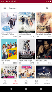 Movie tabs light theme