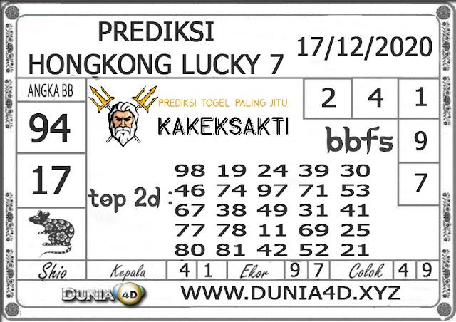 Prediksi Togel HONGKONG LUCKY 7 DUNIA4D 17 DESEMBER 2020