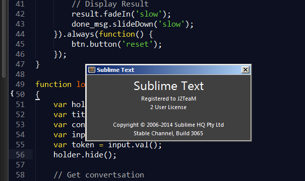 Sublime Text License Key
