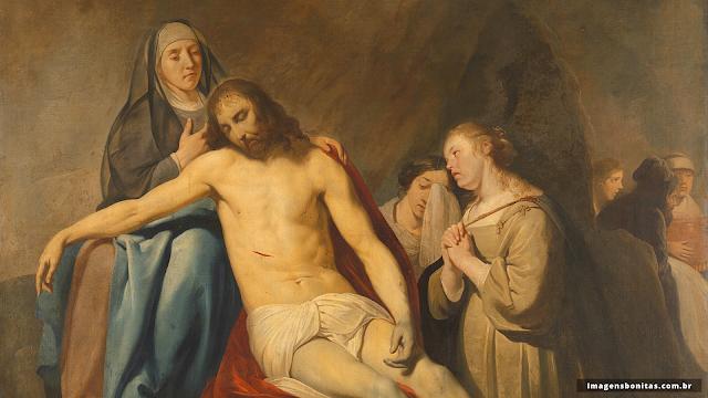 Nossa Senhora das Dores com Jesus Cristo morto