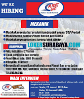 Walk In Interview di PT. Surganya Motor Indonesia (Planet Ban) Surabaya Januari 2020