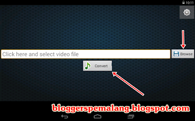 Convert video ke mp3 di Android
