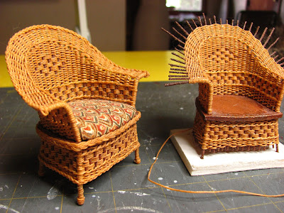 1 Inch Scale Wicker Chair Tutorial How To Make A For Your Dollhouse