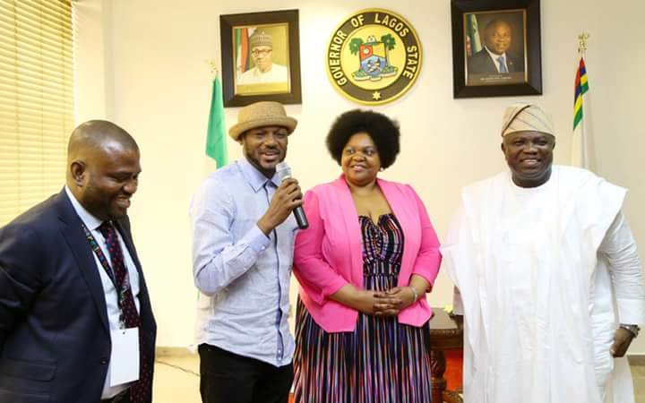Image result for AFRIMA 2016: Ambode hosts nominees at State House