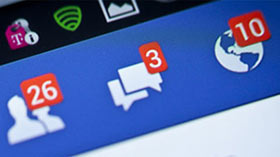 Photo de notifications sur Facebook