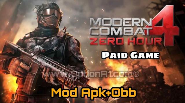 تحميل لعبة الاكشن والقتال مودرن كومبات 4: زيرو آور Modern Combat 4 Zero Hour المدفوعة مجانا