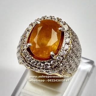 Cincin Batu Permata Yellow Saphire ZP1100