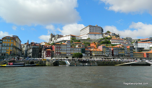 Cidade do Porto, Portugal, vista do cais de Vila Nova de Gaia