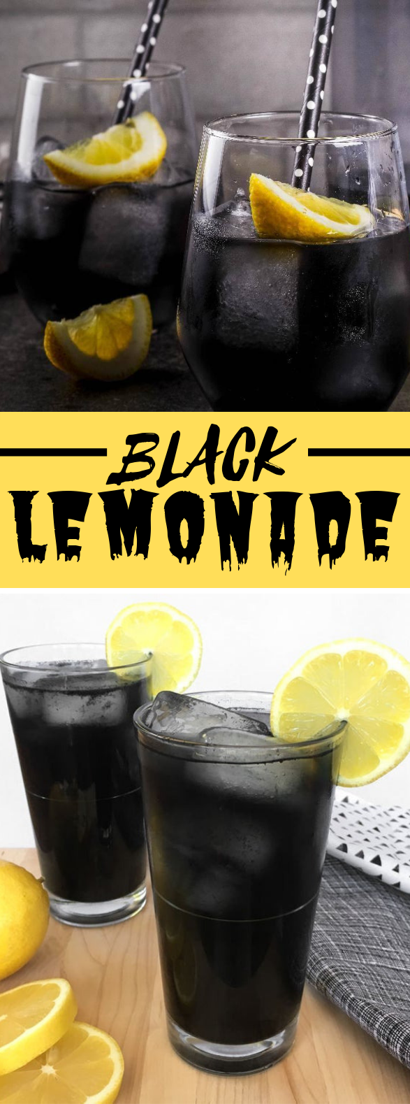 Black Lemonade #drinks #charcoal