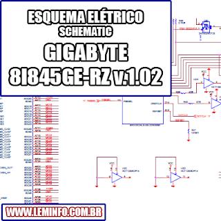 Esquema Elétrico Placa Mãe GIGABYTE 8I845GE RZ_Rev.1.02 Motherboard Manual de Serviço  Service Manual schematic Diagram Placa Mãe GIGABYTE 8I845GE RZ_Rev.1.02 Motherboard    Esquematico Placa Mãe GIGABYTE 8I845GE RZ_Rev.1.02 Motherboard