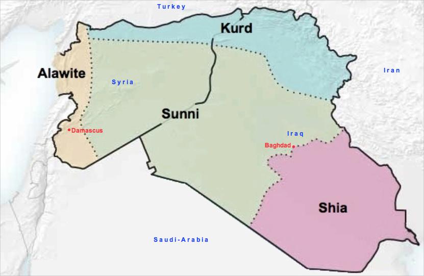 Robs Webstek: Redrawn Map of Syria & Iraq linguistically ...
