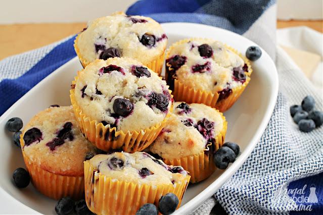 Small Batch Blueberry Muffins