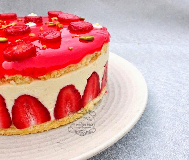 recette fraisier léger