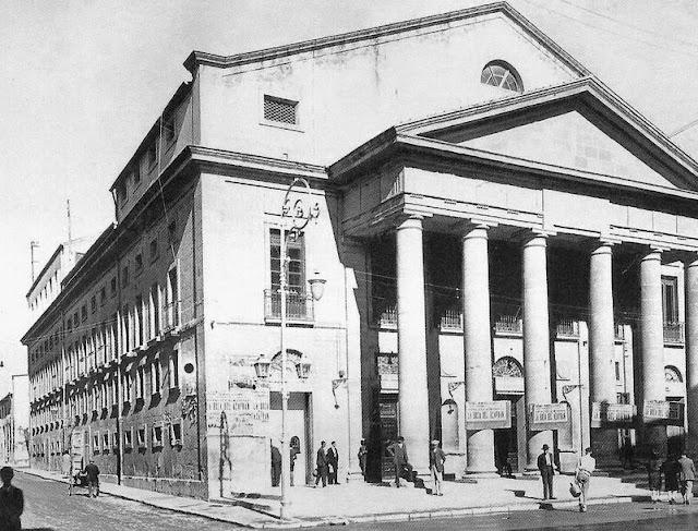 Fachada principal del teatro Principal a comienzos del siglo XX