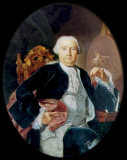 Giacinto Diano's portrait of Luigi Vanvitelli, which is housed at the Royal Palace in Caserta