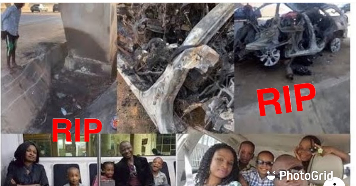 So sad: whole family burns beyond recognition in a fatal motor accident at Enugu today. RIP