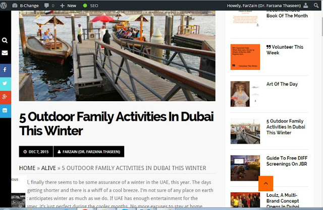 5 Outdoor Family Activities in Dubai this Winter- Article @BChange
