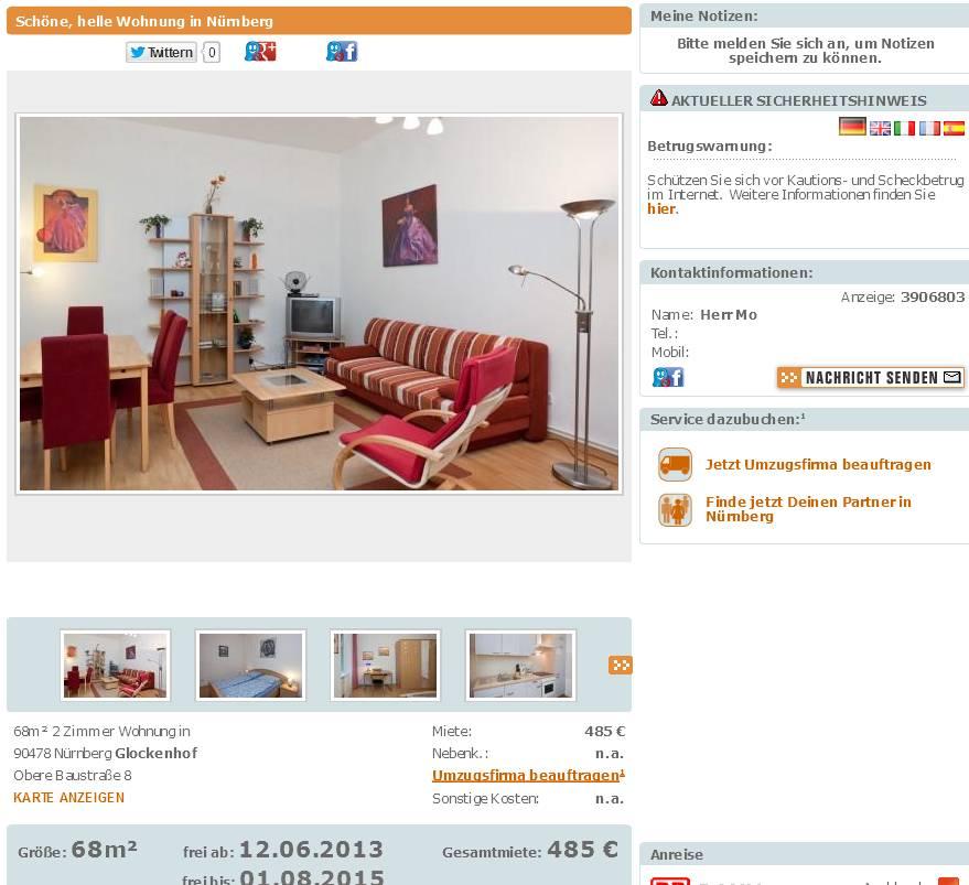 Wg Zimmer In Mannheim: Wohnungsbetrug.blogspot.com: Alias Herr Mo Freundlich