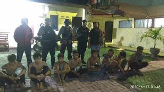 Polres Pelabuhan Makassar Amankan 8 Remaja yang Hendak Tawuran