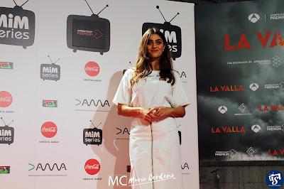 Olivia Molina en la presentación de 'La Valla'