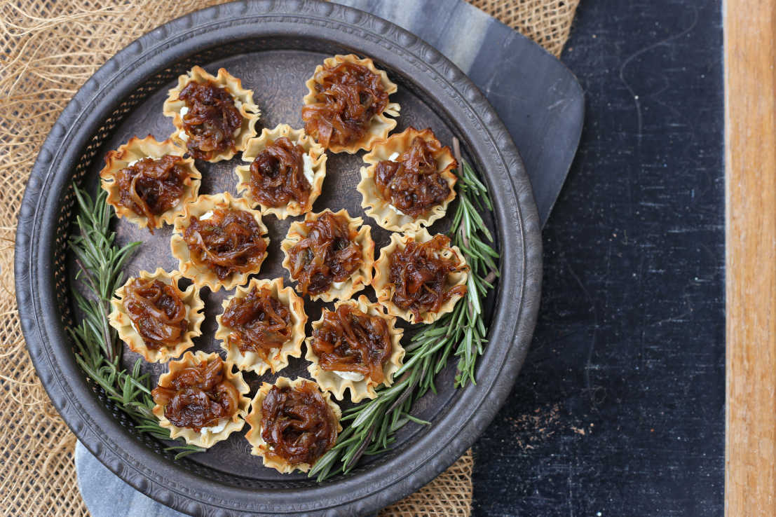 Caramelized Onion Tartlets inspired by Charmed S3:E7