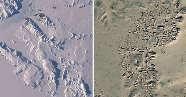 Was there an ancient settlement in Antarctica a very long time ago, the ruins would say so.