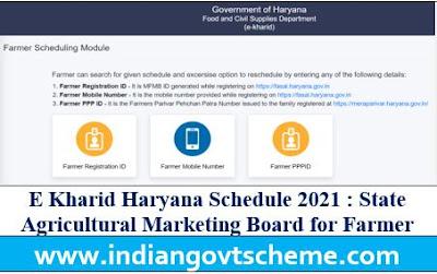 E Kharid Haryana Schedule