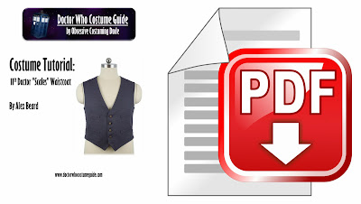 """11th Doctor """"scales"""" waistcoat tutorial PDF"""