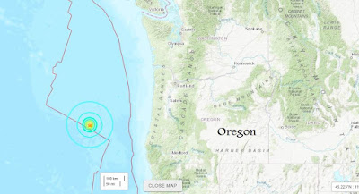 M5.9 Earthquake Detected Off Oregon Coast