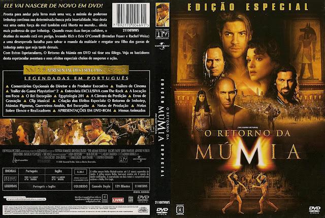 Capa DVD O Retorno da Múmia