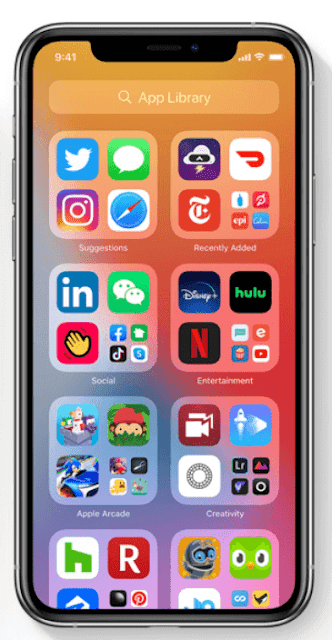 ios 14 apps library