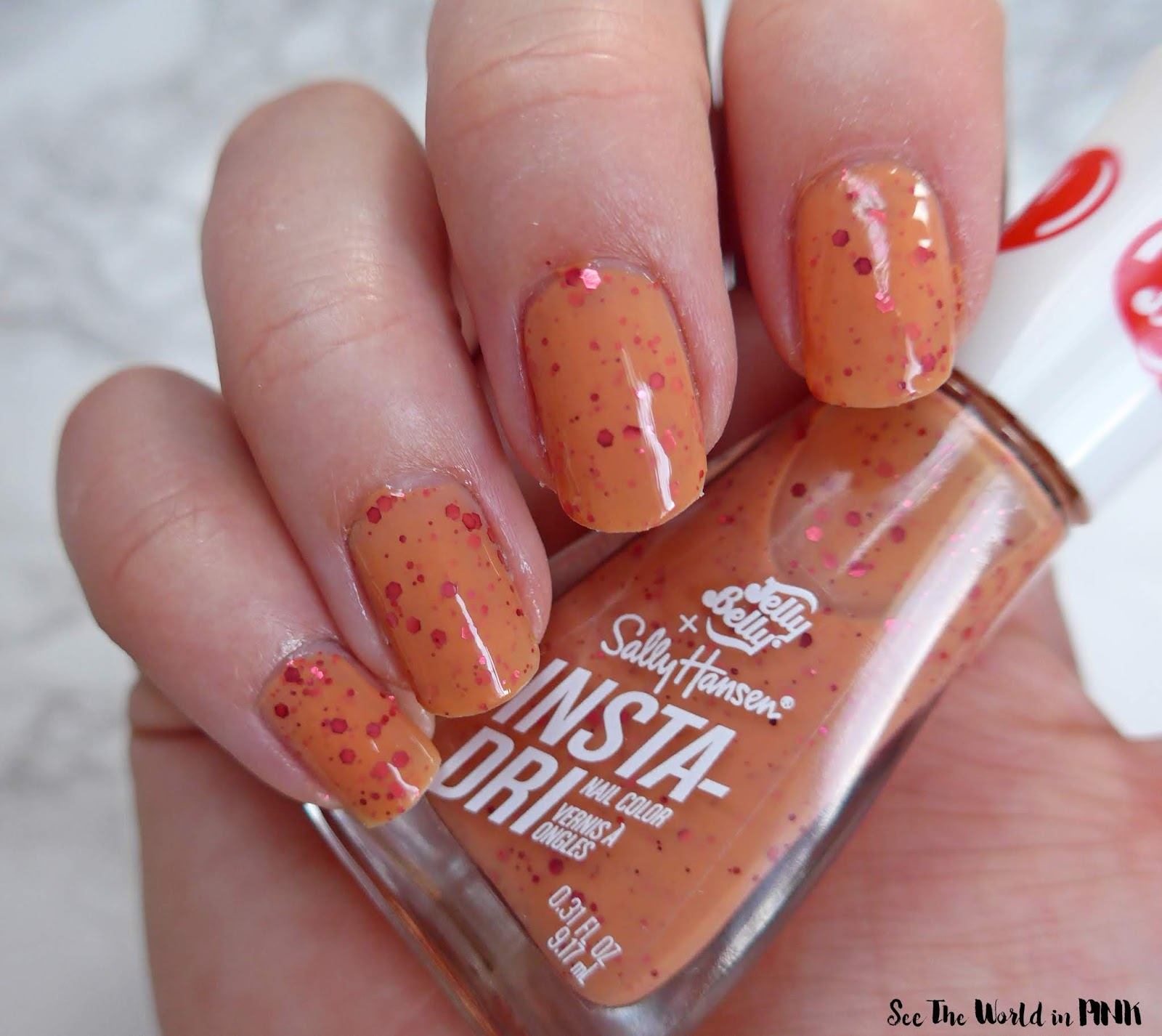 Manicure Monday - Jelly Belly + Sally Hansen Insta-Dri Nail Colors Swatched
