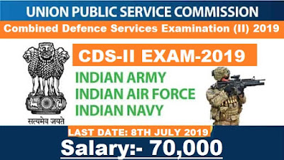 UPSC CDS-2 Notification 2019