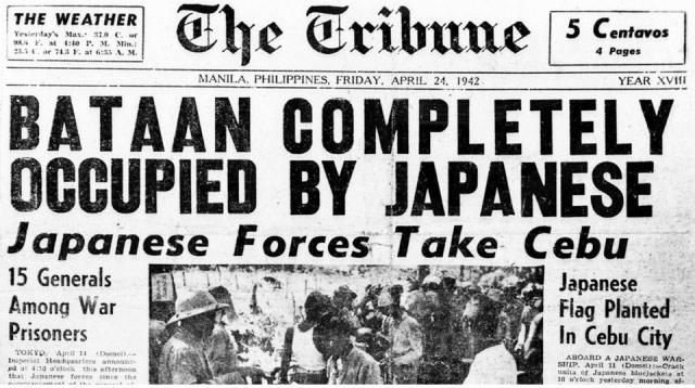 Manila Tribune, 24 April 1942 worldwartwo.filminspector.com