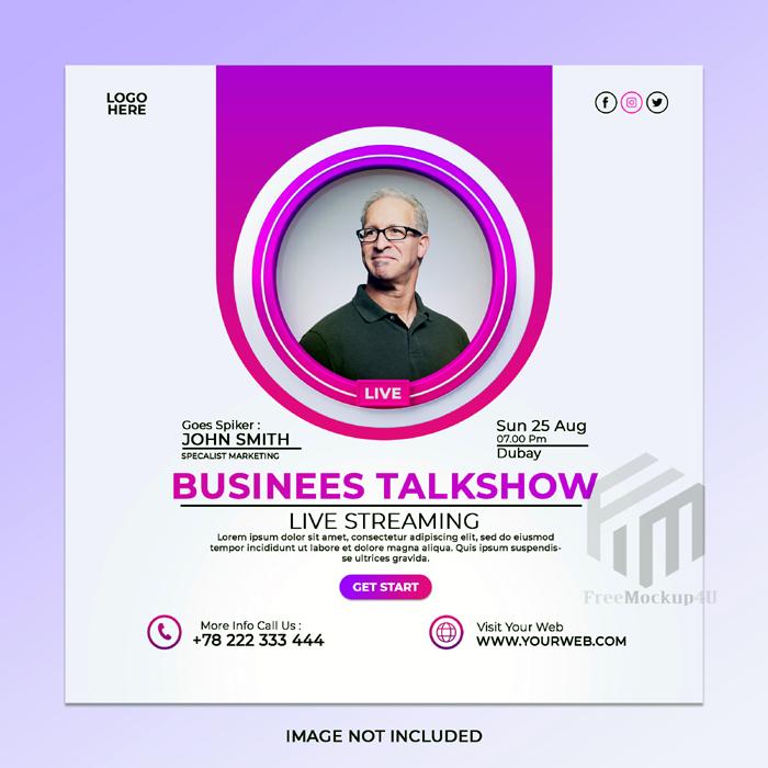 Live Streaming Digital Marketing Corporate Social Media Post