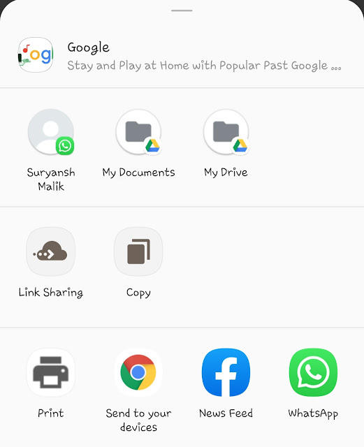 Send to your devices - Chrome