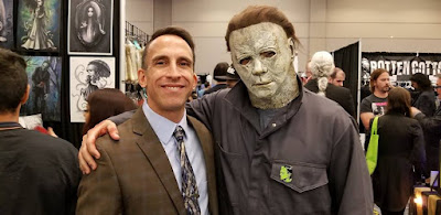 "Tony Timpone with the the villain in ""Halloween,"" Michael Myers"