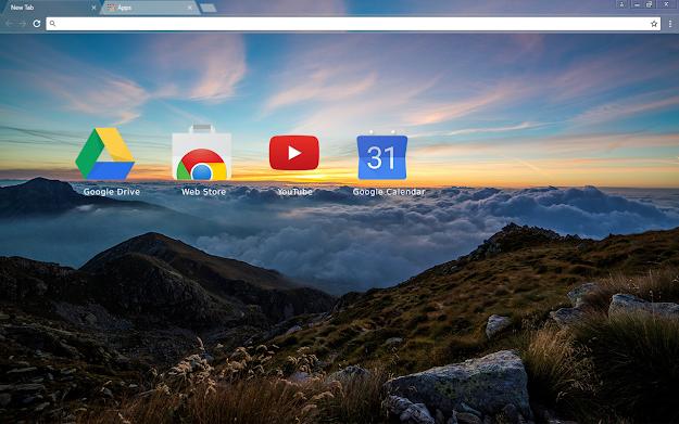 Dawn Mountain Chrome Theme