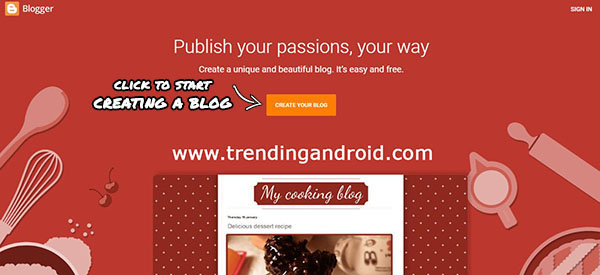 How to Start a Free Blog on Blogspot Image 1