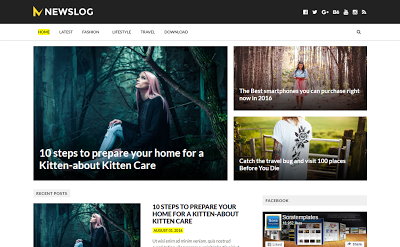 Newslog Blogger template Responsive