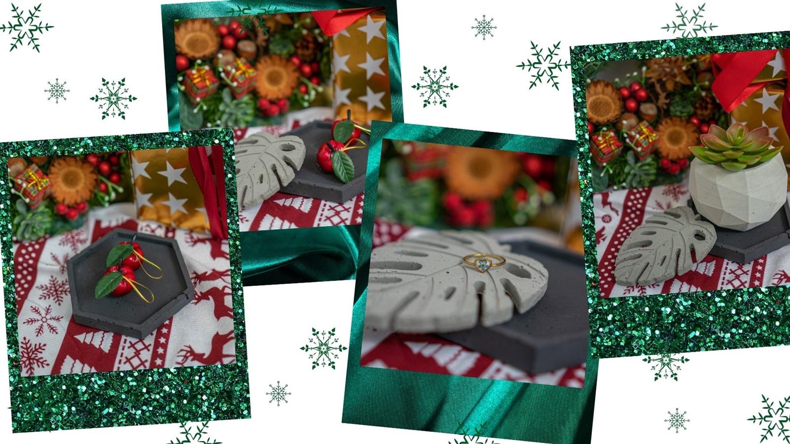 betonowe podkładki na bizuterię do zdjęć dodatki handmade pomysły na prezenty z okazji gwiazdki niebanalne niepowtarzalne ciekawe inne diy osłonki na kwiaty