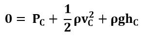 Simplificando la ecucación de Bernoulli entre los puntos A y C del ejemplo 2