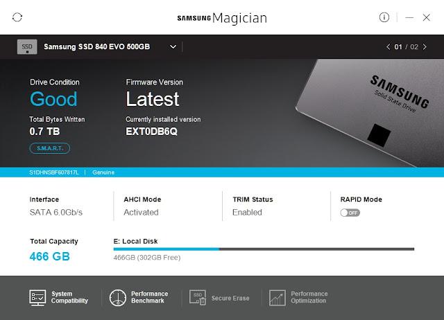 Samsung SSD EVO - Aktualizacja Firmware - Nowa wersja zainstalowana