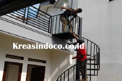 Jasa Pembuatan Tangga Putar  Besi di Jabodetabek dan Bandung