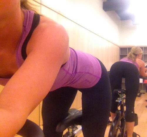 sexy yoga pants grinding