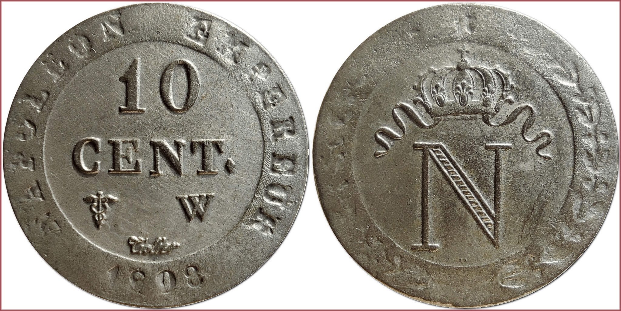 10 centimes, 1808: French Empire