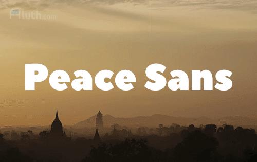 Peace Sans English font
