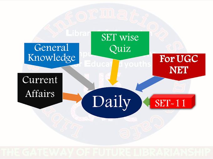 Daily Current Affairs Quiz SET-11 for UGC NET exam-2021