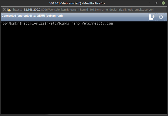 Konfigurasi DNS Server di Debian 8.5