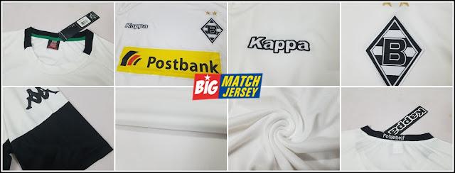 Detail Jersey Borussia Mönchengladbach Hone Musim 2017-2018 Grade Ori